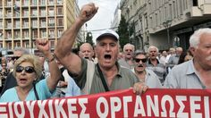 """THINK COAL PLANTS SHUTTING DOWN ALONG WITH THE REST ---- COMING TO AMERICA VIA OBAMA & NWO -  """"Greek pensioners protest austerity cuts.  """"We can't pay our electricity bills, or the emergency taxes. We haven't enough for our medicines, and it's putting our lives in danger,"""" he added."""""""