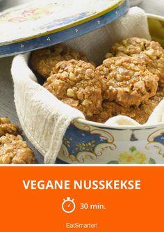 Vegane Nusskekse - smarter - Zeit: 30 Min. | eatsmarter.de