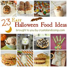 23 Easy Halloween Food Ideas for kids.  #Halloween #recipes #kidscrafts