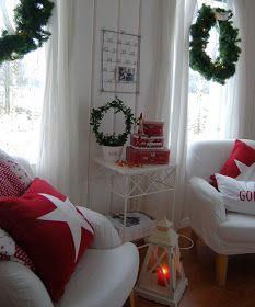 swedish style country christmas decor