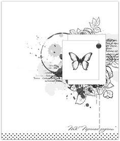"""Творческий клуб """"Простые радости"""": Скетч №108 - Открытка"""