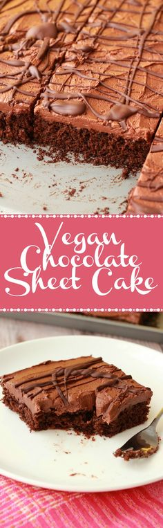 For the Sheet Cake:2 cups (250g) All Purpose Flour1 cup (200g) White Sugar½ cup (100g) Brown Sugar¾ cup (65g) Cocoa Powder1 tsp Baking Soda½ tsp Salt1 cup (240ml) Vegan Buttermilk½ cup (120ml) Soy Milk (or other non-dairy milk)2 tsp Vanilla Extract½ cup (120ml) Vegetable Oil (I used olive)1 Tbsp White Vinegar (or Apple Cider Vinegar)1 Flax EggFor the Chocolate Fudge Frosting:4 and ½ cups (540g) Powdered (Confectioners) Sugar¾ cup (65g) Cocoa Powder½ cup (112g) Vegan Butter4 Tb