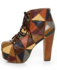 Jeffrey Campbell Patchwork Lita. Steel revelling in the fact that I OWN THESE!