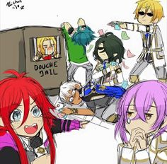 Kamigami No asobi - les dieux jouent au Monopoly ❤️ (hi hi hi j'adore, je ne sais pourquoi, je n' arrête pas rire quand je regarde cette image )