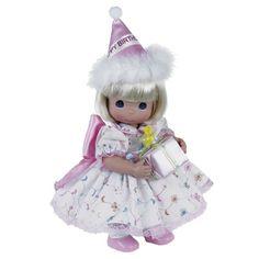 precious moments dolls | Birthday Girl - 12in Precious Moments Doll, 4716