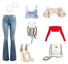combinations by hilalozkan on Polyvore featuring moda, Johanna Ortiz, Maryam Nassir Zadeh, Alice + Olivia, Frame, Giuseppe Zanotti, Chanel and Jennifer Zeuner