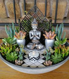 Succulents And Cacti Collectors Australia Ali Cowley‎ Buddha gardens. Succulents And … Meditation Corner, Meditation Garden, Meditation Rooms, Meditation Bowl, Succulent Gardening, Succulents Garden, Garden Shrubs, Succulent Arrangements, Garden Edging