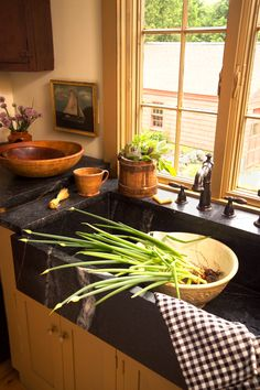 Soapstone counters.