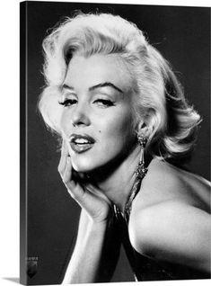 Premium Thick-Wrap Canvas Wall Art Print entitled Marilyn Monroe B, None