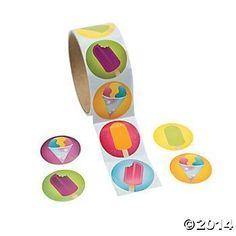 200 ICE CREAM Stickers (2 Rolls of 100 ea) FROZEN Treats - SUMMER Crafts - SCRAPBOOKING - TEACHER Daycare DENTIST FX http://www.amazon.com/dp/B00K6KSOES/ref=cm_sw_r_pi_dp_22aUwb0S8GAA7