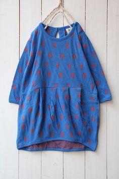きつねずみ接結ワンピース/ブルー(07) - 100% picnic.