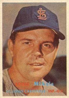 1957 Topps Eddie Miksis #350 Baseball Card                                                                                                                                                     More