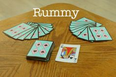 Games for Two Players The setup for Rummy.The setup for Rummy. Family Card Games, Fun Card Games, Card Games For Kids, Playing Card Games, Games For Teens, Adult Games, Diy Games, Party Games, Games To Play