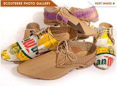 ダンボールで作られた靴がめちゃめちゃかっこいい!