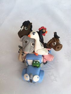 Little Blue Truck Story Book Cake Topper Decoration For Kids Room