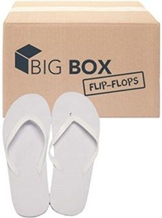 725fbe002c11 Big Box Women s Basic Flip Flops – White (Case of