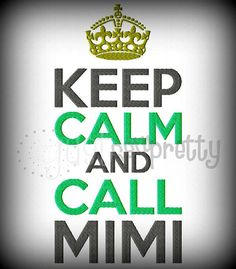 Keep Calm and Call MiMi Crown Machine Embroidery by justsewpretty, $4.00