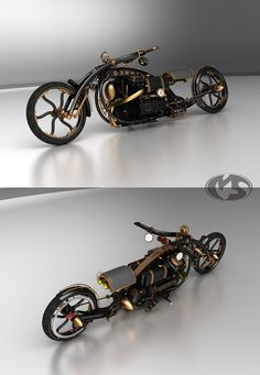 Steampunk Chopper 'Black Widow'