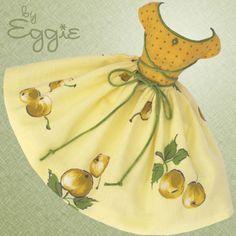 Golden Hours - Vintage Barbie Doll Dress Reproduction Repro Barbie Clothes