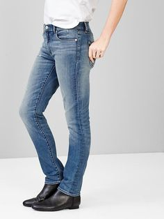 Gap jeans are the best. Fit me perfectly.  1969 destructed resolution slim straight jeans Product Image