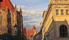 Sebalduskirche, Burg und Rathaus Nürnberg Nuremberg  Germany Alemania Deutschland