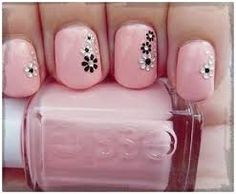 Easy tutorials and pictures of cute nail art designs for short nails. Floral nail art,striped nail art and dotted nail art for short nails Cute Nail Art, Cute Nails, Pretty Nails, Fancy Nails, Pink Nails, My Nails, Black Nails, Short Nail Designs, Cute Nail Designs