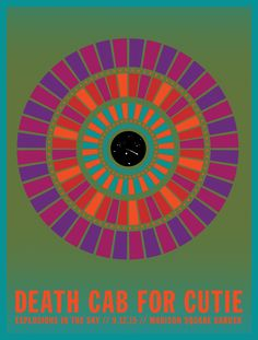 Death Cab for Cutie - Madison Square Garden Gig Poster