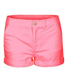 This Bright Coral Cuffed Ibiza Shorts by Dex is perfect! #zulilyfinds