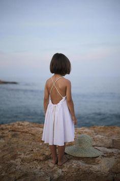 c16d82adbdf White Reversible Dress Little Girl Princess Dresses