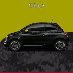 Kamuflaż który sprawia, że #Fiat500 staje się jeszcze bardziej stylowy! #DrugaSkóra #Fiat