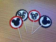 Mickey Mouse cupcake toppers  25- $10.00 $3.00 for shipping
