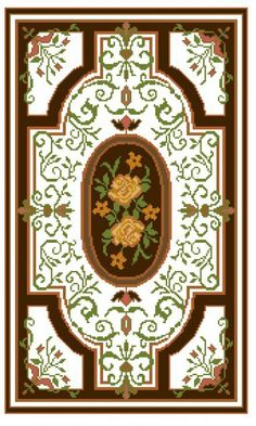 Gallery.ru / Фото #1 - 3 - ergoxeiro Embroidery Sampler, Diy Embroidery, Cross Stitch Embroidery, Cross Stitch Patterns, Chart Design, Pattern Design, Tapete Floral, Biscornu Cross Stitch, Latch Hook Rugs