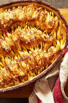 NYT Cooking: This golden and glorious mash-up of potato gratin and Hasselback potatoes, from the acclaimed food science writer J. Kenji López-Alt, has been engineered to give you both creamy potato and singed edge in each bite. The principal innovation here is placing the sliced potatoes in the casserole dish vertically, on their edges, rather than laying them flat as in a standard gra...