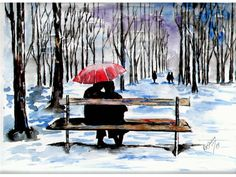 In the park, original watercolor painting Watercolor Paintings, Landscapes, My Arts, The Originals, Park, Outdoor Decor, Home Decor, Paisajes, Scenery