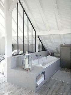 loft room ideas that give you extra space ver. loft room ideas that give you extr. Attic Bedroom Designs, Attic Bedroom Small, Attic Bathroom, Attic Rooms, Garage Bathroom, Master Bedroom, Open Bathroom, Bathroom Marble, Bathroom Plumbing