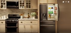 #LGLimitlessDesign #Contest LG Black Stainless Steel Appliances  http://www.hgtv.com/  Dreaming of having THIS as my kitchen.