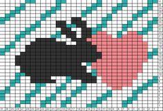 Tricksy Knitter Charts: Bunny love (73739)