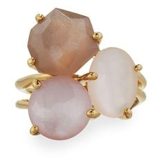 Ippolita Rock Candy Gelato 18k Mixed Gem Cocktail Ring (36.250 UYU) ❤ liked on Polyvore featuring jewelry, rings, accessories, multi, ippolita ring, pink gem ring, 18 karat gold ring, rock rings and pink gemstone rings