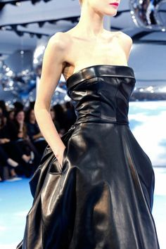 leather bustier dress Dior FW0213