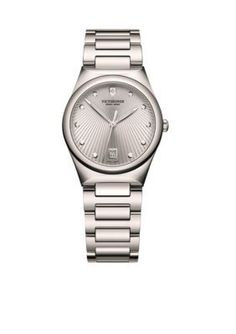 Victorinox Swiss Army Silver Victoria Womens Large Watch