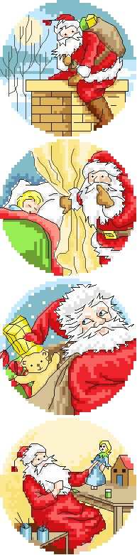 Father Christmas, Christmas Cross, Holiday Themes, Christmas Themes, Cross Stitch Designs, Cross Stitch Patterns, Cross Stitching, Cross Stitch Embroidery, Cross Stitch Pictures