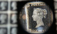 """""""Penny Black"""", the world's first adhesive postage stamp...issued 175 years ago today, May 6th!"""