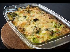 Zucchini Casserole Gratinated with Gouda Cheese Zuchinni Casserole, Gouda Cheese Recipes, Queijo Gouda, French Food, Low Carb Keto, Queso, Cookie Recipes, Macaroni And Cheese, Good Food