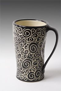 Doodle Mug: Jennifer Falter: Ceramic Mug   Artful Home