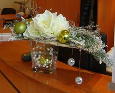 Christmas decorations for the reception
