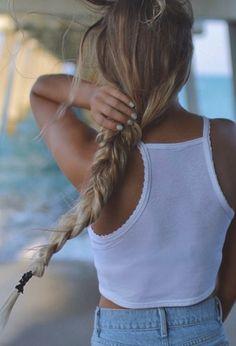 braided beach hair