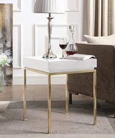 White Gold Bianca Side Table