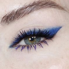 The thick blue line - and the most natural faux lashes I have found.