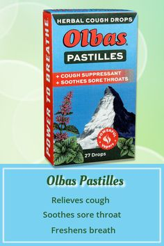Soothe sore throats and cool away with Pastilles Herbal Cough Drops. The cooling vapors in these long-lasting, maximum strength cough drops help make nasal passages feel clearer, too. Sore Throat And Cough, Sooth Sore Throat, Throat Pain, Healthy Diet Tips, Daily Health Tips, Health Advice, Health Care, Healthy Food, Natural Remedies For Migraines