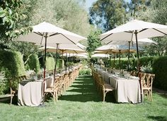 Gorgeous summer wedding reception set up with creme outdoor furniture! A Wanaka Wedding (www.awanakaweddin...).